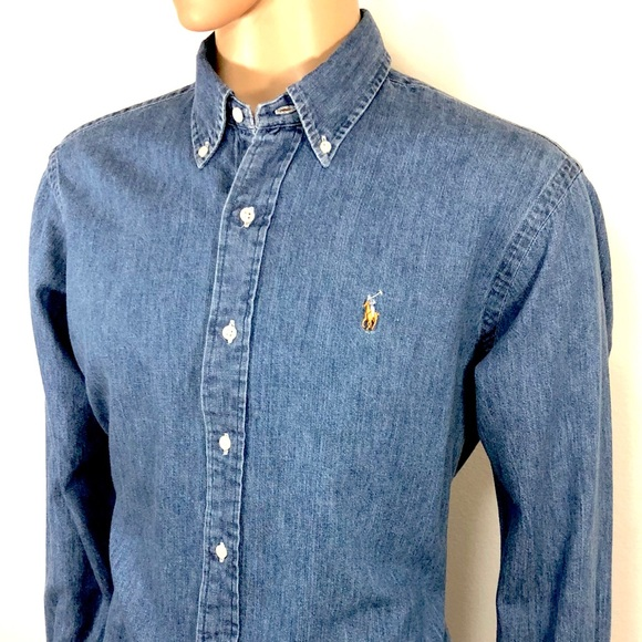 041fa3f1ed RALPH LAUREN Men s Denim Shirt Sz L Classic Fit. M 5ab2a63e3800c5f8d2445710